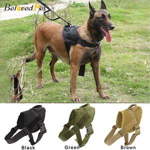 Dog Harness Andando Ajustável Nylon Pet Dog Collar Colete Bungee Dog Leash Harness Para Pequenos Larges Cães Shepherd LJ201111