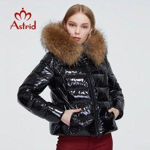 Astrid Yeni Kış Kadın ceket kadınlar rakun kürk kaput kadın giyim ile kalın parka moda siyah kısa ceket sıcak 7267 201014