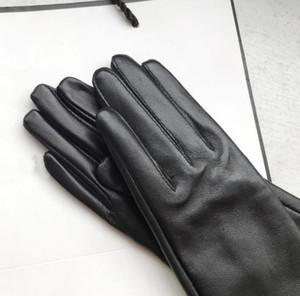 Мода - женские перчатки для женщин Натуральная кожа зимний теплый пух женщина мягкая женская меховая подкладка Высококачественные варежки