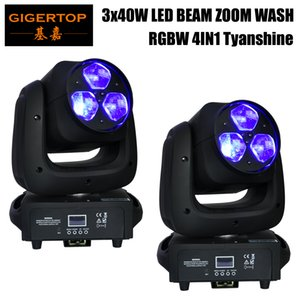 2 pieces Music Disco Lighting 3pcs x 40w RGBW 4 in 1 Small Bee Eye Mini Beam Led Moving Head Zoom Light