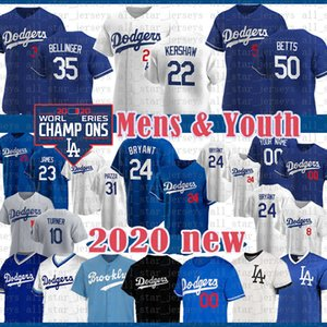 Mookie Betts Dodgers Baseball Jersey Enrique Hernandez Cody Bellinger Clayton Kershaw Corey Seager Justin Turner Los Angeles Urie 24 personnalisé