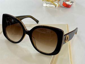 4387 Yeni High-end Moda Bayanlar Güneş Gözlüğü Büyüleyici Kedi Gözleri Plakadan Yapılan Tam Çerçeve Güneş Gözlüğü UV-400 Açık En Kaliteli Ücretsiz Kutu