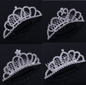 Silver Color Princess Tiaras Crowns Headband Kids Girls Gift 2021 New Wedding Party Accessories Hair Jewelry