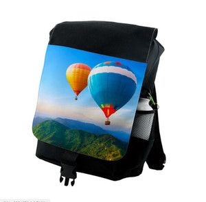 DHL10pcs Sublimation DIY Blank Black Men Nylon Large Capacity Sport Backpack Bag