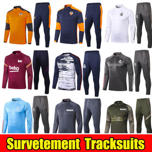 20 21 Valencia CF Soccer Training Suit 2020 2021 Atletico Football Tracksuit Real Madrid Survement Chandal Maillot de Foot Kit