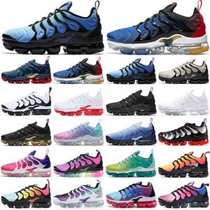Hotsale TN Plus Scarpe da corsa Uomini da uomo Outdoor Scarpers per le donne Thriple Red Triple Black Hyper Blue Olive TNS Fashion Mens Womens Sport Sneakers Sneakers