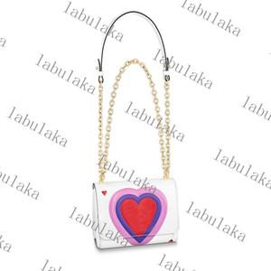 2020 neue Twist Crossbody Bag Herz-förmige Spielkarten Handtaschen Hohe Qualität Handtasche Leder Frauen Umhängetaschen Kommen Sie mit Box