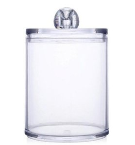 DHL Plastic Cotton Swab Ball Pad Holder Jar Clear Makeup Organizer, Bathroom Containers Individual Dispenser Bath & Toilet Supplies