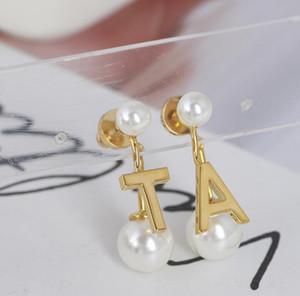 2020 fashion jewelry letter earrings luxury jewelry for woman pearl earrings african wedding dubai gold jewelry set