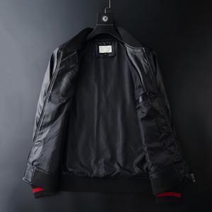jacket kaplan Sahte Deri ceket Fermuar Slim Fit Kısa hip hop Casual tasarımcı Motosiklet ceket siyah Biker adam moda lüks Spor giysiler mens