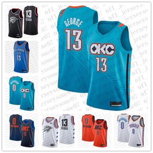 2020 personnalisés femmes jeunesse jeunesse Oklahoma CityThunder 0 RussellWestbrook 13 PaulGeorge White Black Basketback Basketball Jer