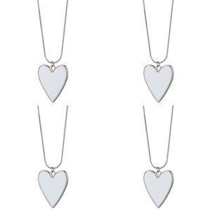 Love Heart Ley Pendant Sublimation Blank Blank Catena in acciaio inox Donne Fascino Collana di fascino Accessori Valentino Regalo di San Valentino 5 5mo N2