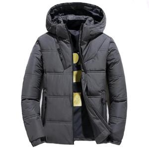 Зимняя куртка вниз Мужчины Нового Повседневного Slim Fit Теплый капюшон вниз пальто Мужской моды Streetwear Outwear Ветровка Куртка Одежда