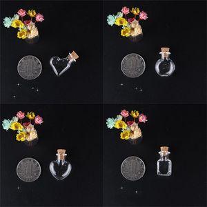 Bouteilles de souhaits transparents Mini petit coeur en forme de verre rond drifting bouchon bouchon bouchon bouchon de bouteille de bouteilles Pendentres pendentifs décorer neufs 0 99JD m2