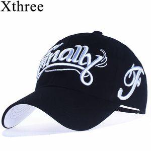 [Xthree] 100% las mujeres gorra de béisbol del algodón del sombrero del snapback casual para hombres casquette bordado homme Carta Gorras 201019