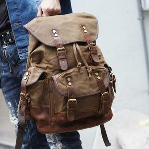 Retro mens Leinwand bapa High-School-Student Schultasche Freizeit großer Kapazität Reisetasche bapa mens bag