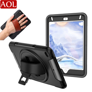Heavy Duty Hybrid Shockproof Tablet Case with Stand Leather belt For iPad 2017 2018 Air 2 Pro 9.7 10.2 air3 10.5 11 mini 12345