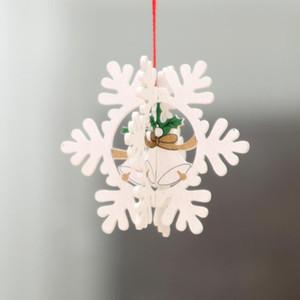 2D 3D рождественские украшения деревянные подвесные подвески звезды xmas дерево колокол рождественские украшения для домашней вечеринки Новый год Navidad EWD2479