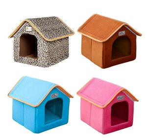 Foldable Pet House Bed Nest With Mat Soft Winter Dog Puppy Sofa Cushion House Kennel Nest Dogs Cat Bed F sqckfJ sports2010