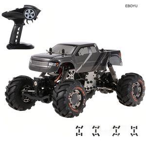 EBOYU 1:24 2. Devastator Rock RC Crawler RTR with Double Servo Off-Road RC Car RTR-Random Color LJ201210