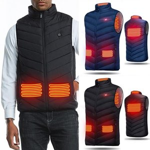 2020 Spring Winter Men USB Heating Electrical Vests Men Warm Sleeveless Jacket Classic Heating Intelligent Overcoats