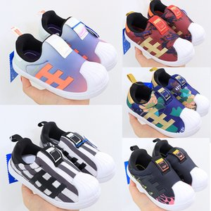 2020 Kids Shoes Luxury Designer Speed Trainer Boots Socks Stretch-Knit Trainer Shoes Black White Sneaker kids shoes Casual Eur 24-35