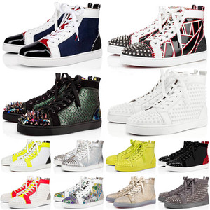 35-47 Top Red Bottoms junior spikes platform designers shoes Mens Womens luxuries loafers Casual Shoes Red Bottom flat Trainers Sneakers
