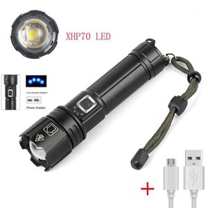 new High Powerful 5000 Lumen USB Rechargeable Zoom LED XHP70 Tactical lamp1