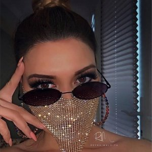 Trendy Bling Rhinestone Jewlery for Women Face Body Jewelry Night Club Decorative Jewellery party Mask KKA7883