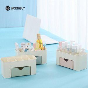 WORTHBUY multifunzionale trucco dell'organizzatore scatola di plastica trucco Scrivania organizzatore per Cosmetici Box Bagno contenitore di immagazzinaggio zHiu #