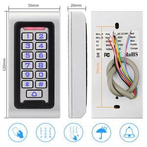Freeshipping Outdoor Access Control System Kit IP68 Lecteur de carte de clavier RFID étanche à l'eau + Alimentation + 180kg Couple de verrouillage magnétique électrique
