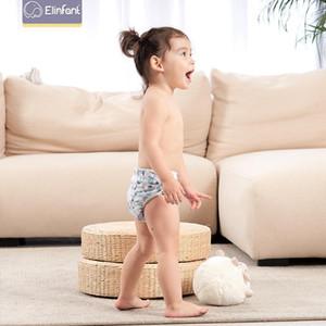 Elinfant Bébé Pantalon Natation Pantalon étanche Tissu Réglable Douches Piscine Couche Double Réutilisable Lavable Nappies1
