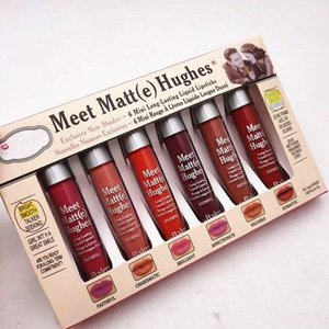 Hot Sale Makeup Matte Lip Gloss Meet Matt(e) Hughes Mini set Long Lasting Liquid Lipstick with the Brand in stock 6pcs set