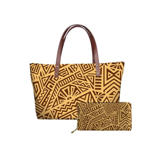HYCOOL Luxus Brieftasche PU-Leder Handtaschen Tote Traditionelle Tasche Muster Tasche Mädchen Stammes- Für Frau Dame Große Trendy Polynesian Vkivi