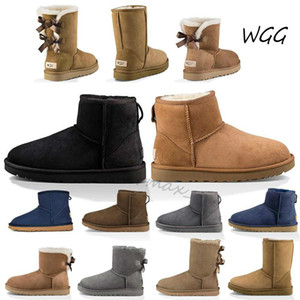 Women snow boots australia classic knee boots chestnut ankle boots black grey navy blue pink womens girl shoes size 5-10