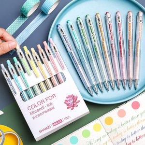 9 colori MORADI GEL Penna Penna Set Colorato Account Account School Ufficio Pittura Graffiti Forniture Cancelleria personalizzata