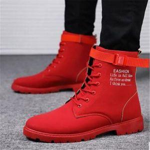 New British 2021 Red Shoes Senior High of Men's Korean Army Snowmen Winter Cowboy's Boots for the Black Men 39-44 5ILG