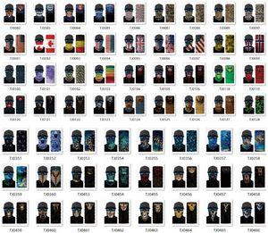 قناع أمريكا العلم الدراجات أقنعة الرياضة وشاح للدراجات النارية والأوشحة في الهواء الطلق نصف الوجه قناع موضة ركوب الدراجات رئيس وشاح EWD2143