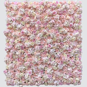 Декоративные цветы венки 3D искусственная цветочная стена для фона свадебные украшения поддельных розовых пион роз гортензии