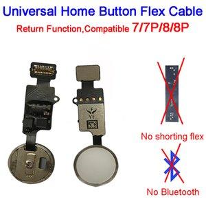 YF Fine Edizione Universal Home Button Flex Cable per l'iPhone 7 / 7P / 8/8 Tasto Più Return 4 colori sostituzione