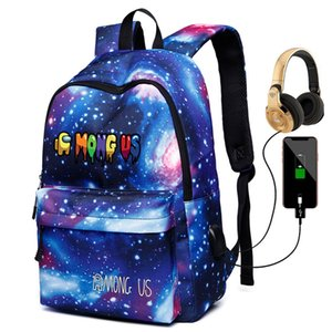2020 Among Us Backpack with Usb Charge for Adult Laptop Knapsack Student School Bag Fashion Designer Women Men Teenager Boy Girls Bags