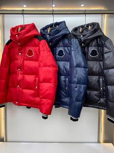 2020 Designer Mens Down Giacche 90% Giacca Giacca a vento spessa calda con cappuccio ricamo Casual Fashion Luxury Winter Winter Blackie Hoodie Giacca Cappotti