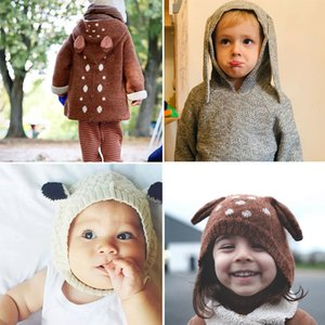 wool knit sweaters beautiful sheep and fawn sweater kids toddler boys girls winter quality brand clothing and hat 201109