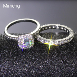 2020 Couples ring mini jewelry fashion zirconium ring plating Fashion Love Engagement Rings
