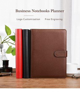 A5 6 ring binders leather agenda planner organizer journals diaries Hardcover notepad notebook pocket for school