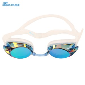 Goexplore Goggles Professional 2019 Anti-fog Uv Protection Natacion Swimwear Electroplate Glasses for Swimming Pool