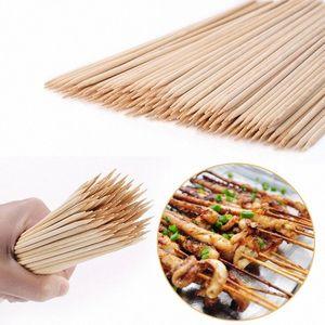 Satış 55 / 90pcs Bambu Şiş Ahşap Barbekü şiş Doğal Ahşap Barbekü Aksesuarlar Aracı k6o2 # Pişirme Sticks