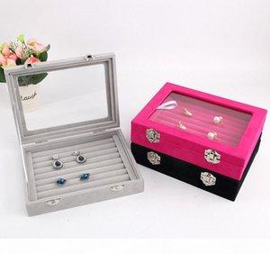 Jewelry Display Casket Jewelry Storage Organizer Earrings Ring Box Case For Jewlery Gift Box Jewelry Box Free Shipping T190629