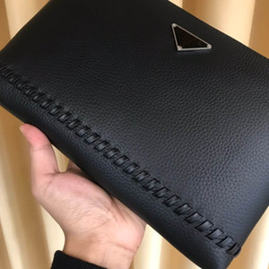 2020 Autumn New European and American Fashion Business Leather Male Clutch First Layer Cowhide Casual Trend Envelope Bag