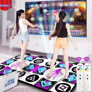 KL English Menu Dance Pads Mats For TV PC Computer Flash Light Guide Double Dance Mat Wireless Controll Games Yoga Mats Fitness Y200413